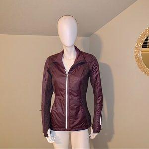 Lululemon athletica purple/grey striped jacket 6